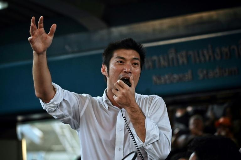 Thai politician and leader of the disbandedopposition Future Forward Party Thanathorn Juangroongruangkit was charged Thursday for organising an illegal protest