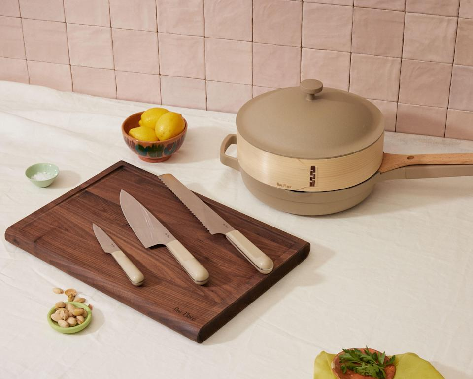 """<h2>Our Place Fully Prepped Bundle</h2><br>The creators of the extremely popular Always Pan, Our Place, just recently launched a brand new knife and cutting board set that's perfect for last-minute Father's Day gifting. Why? It's everything Dad chefs need all in one sustainable package. Check out my review for the full inside scoop.<br><br><em>Shop</em> <strong><em><a href=""""http://ourplace.com"""" rel=""""nofollow noopener"""" target=""""_blank"""" data-ylk=""""slk:Our Place"""" class=""""link rapid-noclick-resp"""">Our Place</a></em></strong><br><br><strong>Our Place</strong> Fully Prepped Bundle, $, available at <a href=""""https://go.skimresources.com/?id=30283X879131&url=https%3A%2F%2Ffromourplace.com%2Fproducts%2Fprepped-bundle"""" rel=""""nofollow noopener"""" target=""""_blank"""" data-ylk=""""slk:Our Place"""" class=""""link rapid-noclick-resp"""">Our Place</a>"""