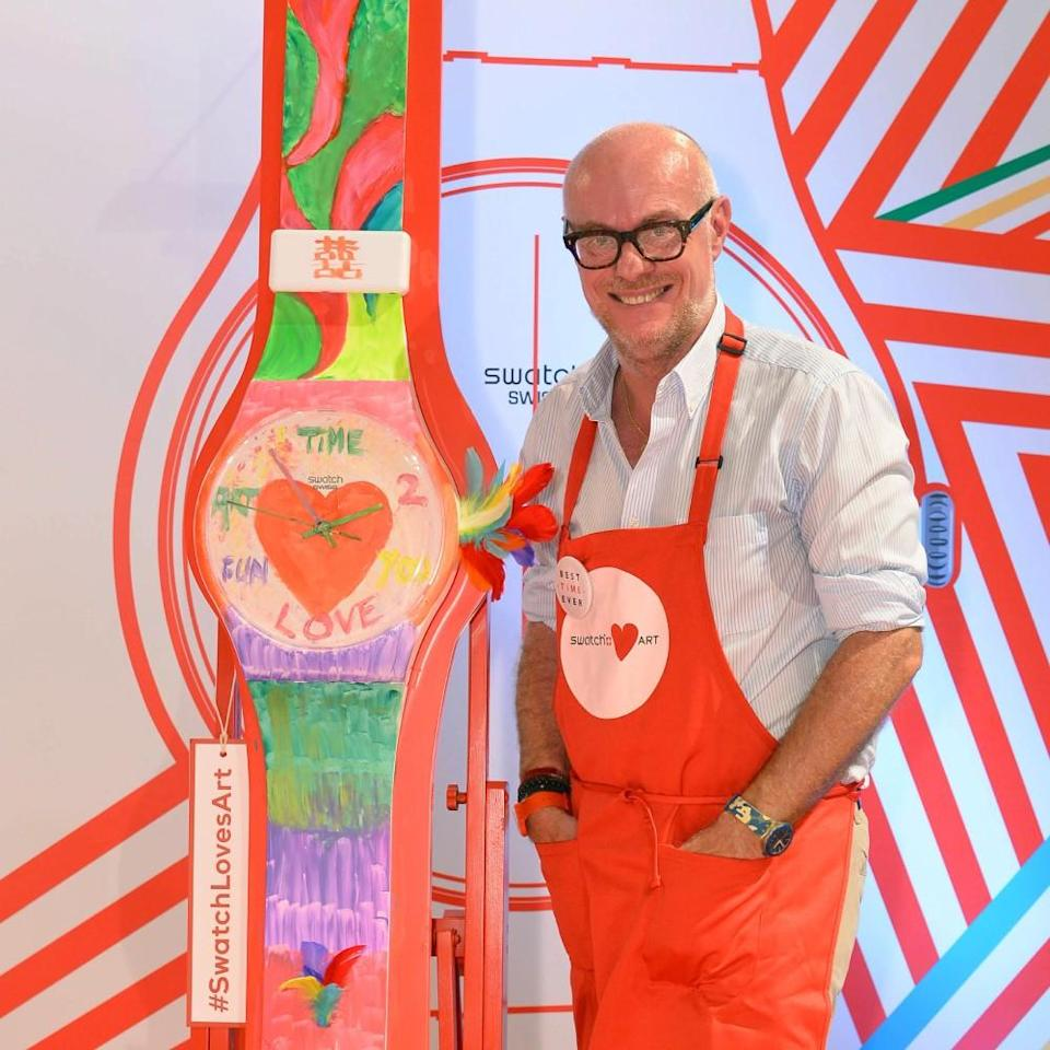 Swatch & Art Collection 2015 Swatch Loves Art  Best Time Ever Swatch MAXI Carlo Giordanetti