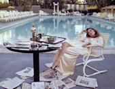 <p>Faye Dunaway eats breakfast by the Beverly Hills Hotel pool the morning after winning the Oscar for Best Actress (for <em>Network</em>) in 1977.</p>