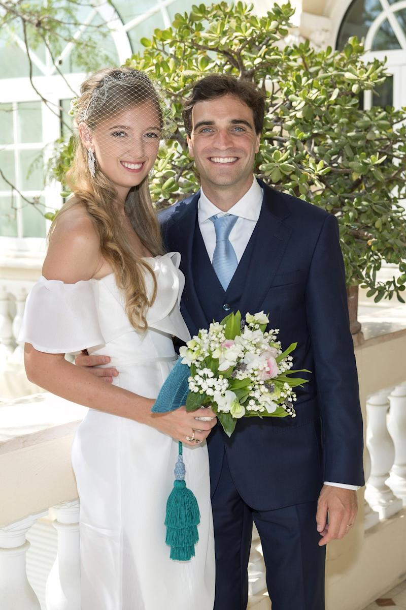Eleonore Von Habsburg and Jérôme d'Ambrosio on their wedding day (Getty Images)