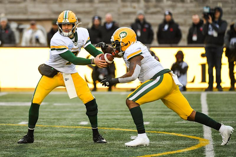 Like Washington, Edmonton's football team will have a new nickname. (Photo by David Kirouac/Icon Sportswire via Getty Images)