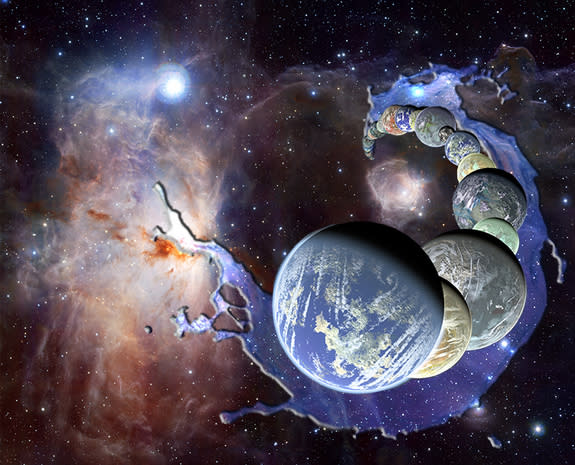 Planets form in the presence of abundant interstellar water inherited as ices from the parent molecular cloud.