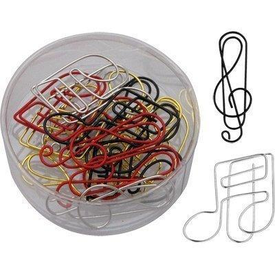 """<p>Having brought you so many items selling for hundreds of dollars, we felt it was incumbent to offer at least one stocking stuffer in the under-$10 range. We found one: a small tub of paper clips that come in the form of musical notes or G-clefs. Whether you're dealing with sheet paper or bills, attaching them via these clips is one way to prove how attached you are to music. Get them <a href=""""http://www.amazon.com/G-Clef-Note-Paper-Assorted-Colors/dp/B00LMHIC2I/ref=sr_1_3?ie=UTF8&qid=1450191929&sr=8-3&keywords=music+novelty+gifts"""" rel=""""nofollow noopener"""" target=""""_blank"""" data-ylk=""""slk:HERE"""" class=""""link rapid-noclick-resp"""">HERE</a>.</p>"""