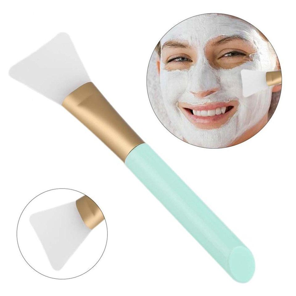 "Apply your favorite face mask with this flexible brush that'll feel smooth on your skin and help you avoid a big mess during self-care time.<br /><br /><strong>Promising review:</strong> ""I'm an esthetician and have never used a brush like this but decided to try it out. I was a bit skeptical about how it would feel since <strong>it is one piece (silicone) instead of bristles. My mask went on perfect and smooth and I didn't have to waste any of the mask either.</strong> PLUS! You won't have to worry about a bunch of mask getting stuck in your bristles, definitely purchasing more for my new job!"" — <a href=""https://www.amazon.com/dp/B075K72NRW?tag=huffpost-bfsyndication-20&ascsubtag=5906615%2C13%2C35%2Cd%2C0%2C0%2C0%2C962%3A1%3B901%3A2%3B900%3A2%3B974%3A3%3B975%3A2%3B982%3A2%2C16562657%2C0"" target=""_blank"" rel=""nofollow noopener noreferrer"" data-skimlinks-tracking=""5906615"" data-vars-affiliate=""Amazon"" data-vars-href=""https://www.amazon.com/gp/customer-reviews/R3OOYKMWRTLZTX?tag=bfkayla-20&ascsubtag=5906615%2C13%2C35%2Cmobile_web%2C0%2C0%2C16562653"" data-vars-keywords=""cleaning"" data-vars-link-id=""16562653"" data-vars-price="""" data-vars-product-id=""20946768"" data-vars-product-img="""" data-vars-product-title="""" data-vars-retailers=""Amazon"">Tamar Yacoubian</a><br /><br /><strong>Get a set of two from Amazon for <a href=""https://www.amazon.com/dp/B075K72NRW?tag=huffpost-bfsyndication-20&ascsubtag=5906615%2C13%2C35%2Cd%2C0%2C0%2C0%2C962%3A1%3B901%3A2%3B900%3A2%3B974%3A3%3B975%3A2%3B982%3A2%2C16562657%2C0"" target=""_blank"" rel=""nofollow noopener noreferrer"" data-skimlinks-tracking=""5906615"" data-vars-affiliate=""Amazon"" data-vars-asin=""B075K72NRW"" data-vars-href=""https://www.amazon.com/dp/B075K72NRW?tag=bfkayla-20&ascsubtag=5906615%2C13%2C35%2Cmobile_web%2C0%2C0%2C16562657"" data-vars-keywords=""cleaning"" data-vars-link-id=""16562657"" data-vars-price="""" data-vars-product-id=""17876938"" data-vars-product-img=""https://m.media-amazon.com/images/I/31L4It7xP5L._SL500_.jpg"" data-vars-product-title=""2 PCS Silicone Face Mask Brush,Mask Beauty Tool Soft Silicone Facial Mud Mask Applicator Brush Hairless Body Lotion And Body Butter Applicator Tools"" data-vars-retailers=""Amazon"">$3.80</a>.</strong>"