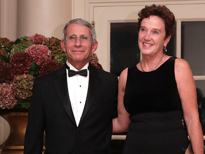 "Dr. Anthony Fauci and his wife Christine Grady at the White House for a state dinner on October 18, 2016. <p class=""copyright"">Alex Wong/Getty Images</p>"