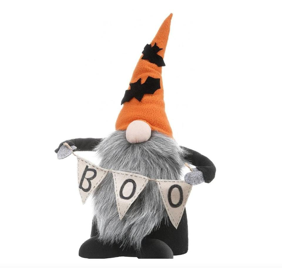 """<p>Add a bit of <a class=""""link rapid-noclick-resp"""" href=""""https://www.popsugar.com/Halloween"""" rel=""""nofollow noopener"""" target=""""_blank"""" data-ylk=""""slk:Halloween"""">Halloween</a> flair to your kitchen or living room table with this <span>Halloween Gnome</span> ($20). Its compact shape makes placement and storage trouble-free. </p>"""