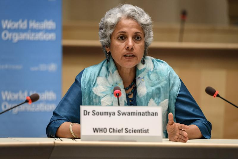 World Health Organization (WHO) Chief Scientist Soumya Swaminathan
