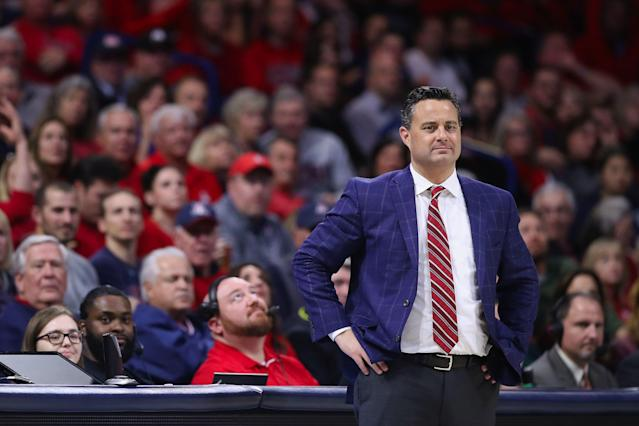 Is Sean Miller coaching his final games for Arizona? (Getty Images)