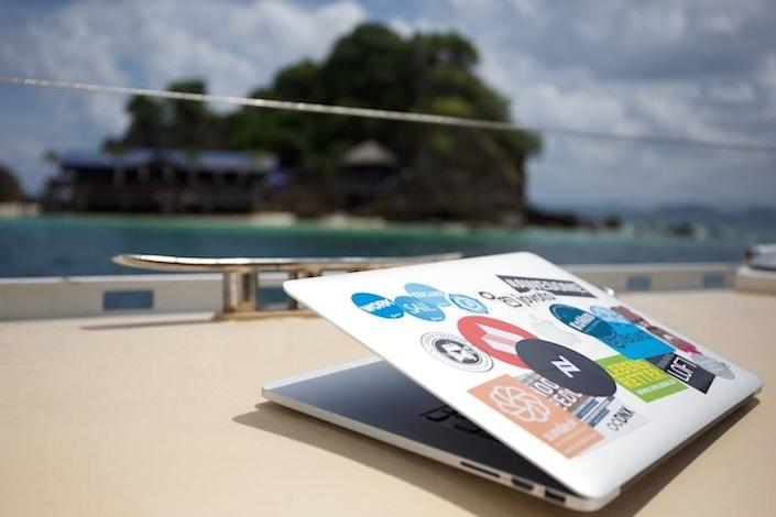 """<p>And when you're not attached to your laptop, you can swim, dive, fish, take day trips (many of which are included in the price of accommodation), nap, or hang out with the other 20 """"digital nomads"""" who share the space. (Credit: <a href=""""http://www.coboat.org/"""" rel=""""nofollow noopener"""" target=""""_blank"""" data-ylk=""""slk:Coboat"""" class=""""link rapid-noclick-resp"""">Coboat</a>)<br></p>"""