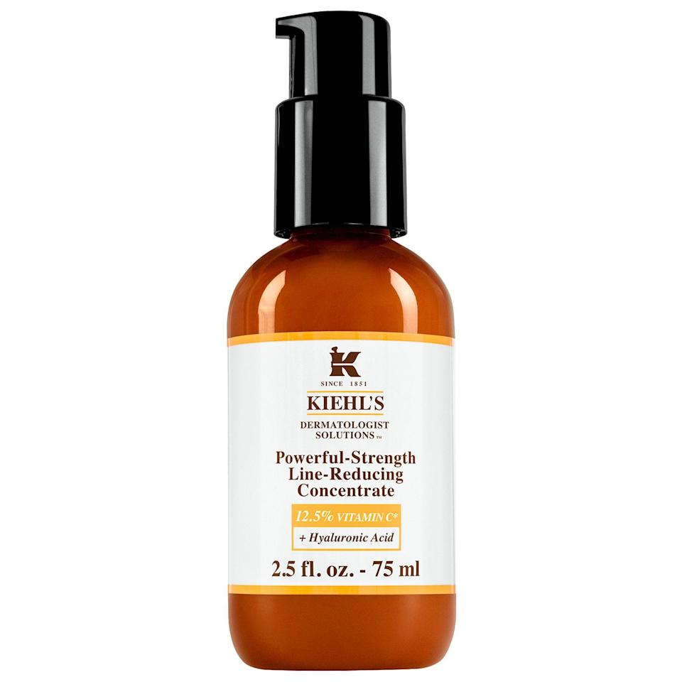 """<p><strong>Kiehl's </strong></p><p>sephora.com</p><p><strong>$88.00</strong></p><p><a href=""""https://go.redirectingat.com?id=74968X1596630&url=https%3A%2F%2Fwww.sephora.com%2Fproduct%2Fpowerful-strength-line-reducing-concentrate-12-5-vitamin-c-P427529&sref=https%3A%2F%2Fwww.oprahdaily.com%2Fbeauty%2Fskin-makeup%2Fg27529759%2Fbest-hyaluronic-acid-serum%2F"""" rel=""""nofollow noopener"""" target=""""_blank"""" data-ylk=""""slk:Shop Now"""" class=""""link rapid-noclick-resp"""">Shop Now</a></p><p>Here's to some good ol' vitamin C for softened skin. """"This anti-aging treatment ingeniously adds vitamin C to a hyaluronic acid serum to provide an additional brightening effects to the moisturizing effects,"""" says Linkner.</p>"""