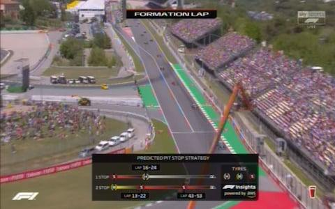 The formation lap for the Spanish GP - Credit: Sky Sports F1