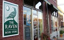 """<p>What's a college town without a first-rate indie bookstore? Lucky for Lawrence, home of the University of Kansas, <a rel=""""nofollow noopener"""" href=""""http://www.ravenbookstore.com/"""" target=""""_blank"""" data-ylk=""""slk:The Raven Book Store"""" class=""""link rapid-noclick-resp"""">The Raven Book Store</a> fits the bill. Specializing in literary fiction, mystery and regional books, you'll also find a great selection of literary journals, postcards and more. """"Right away, you get a sense of place from being there because they wear their region on their sleeve,"""" says Tina Casagrand, publisher of """"The New Territory."""" """"It's a relatively tiny space, but they curate it well and keep it feeling really fresh."""" With a resident cat and plenty of local authors stopping by to sign books or read a poem or two, the Raven screams local in all the best ways.</p>"""