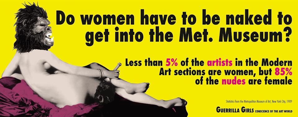One of their most iconic images (Guerrilla Girls)