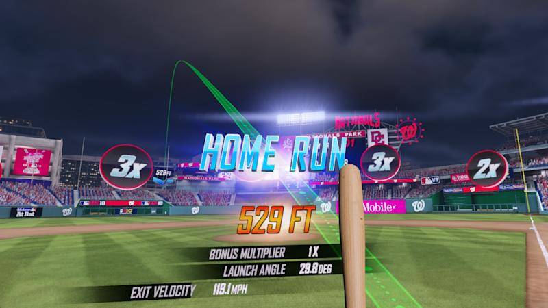 The game features three stadiums, including Nationals Park, home of the 2018 All-Star Game. (MLBAM)