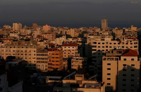 A general view of Gaza is seen early morning November 13, 2018. REUTERS/Suhaib Salem