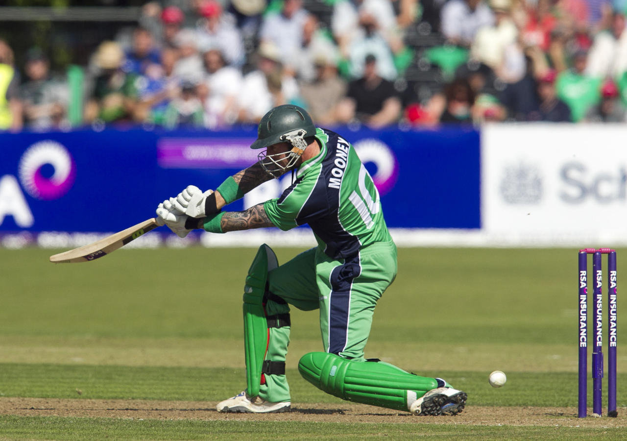Ireland's John Mooney during the One Day International at The Village, Dublin.