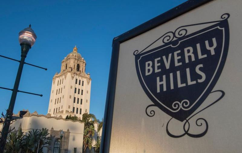 View of the Beverly Hills City Hall which was opened in 1932 at Beverly Hills, California on August 29, 2019. (Photo by Mark RALSTON / AFP) (Photo credit should read MARK RALSTON/AFP via Getty Images)