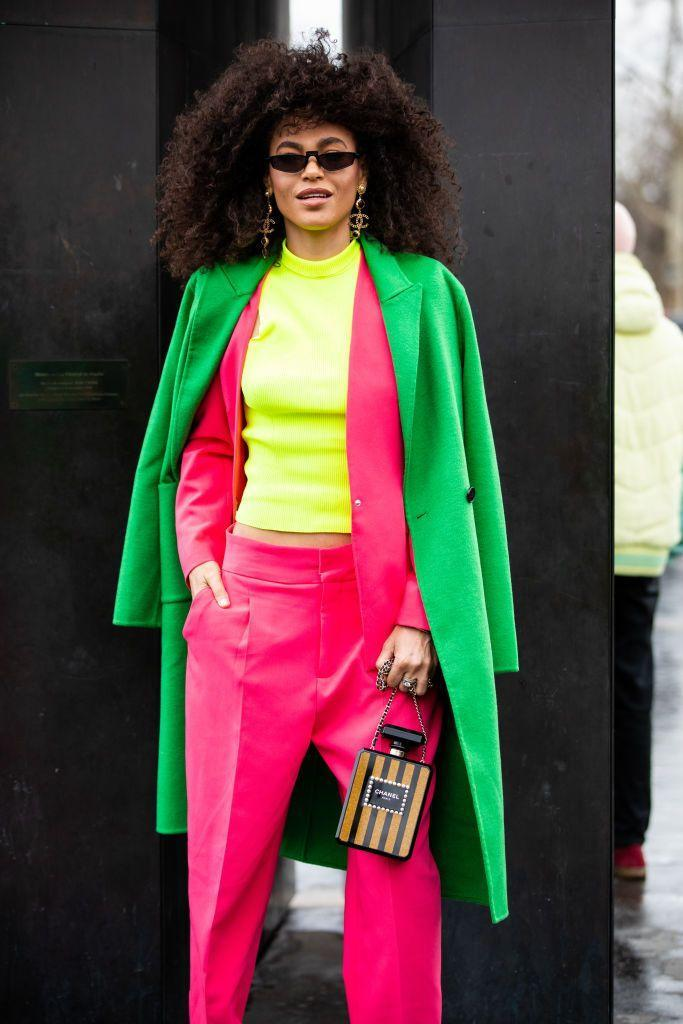 <p>Cooler weather makes people think darker colors, but not this year! This fall is all about electric hues and bright neons. Opt for a saturated jacket to keep you warm well into the winter months.<br><br></p>