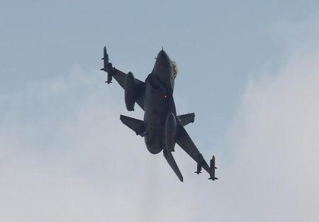 A Turkish F-16 fighter jet takes off from Incirlik airbase in the southern city of Adana