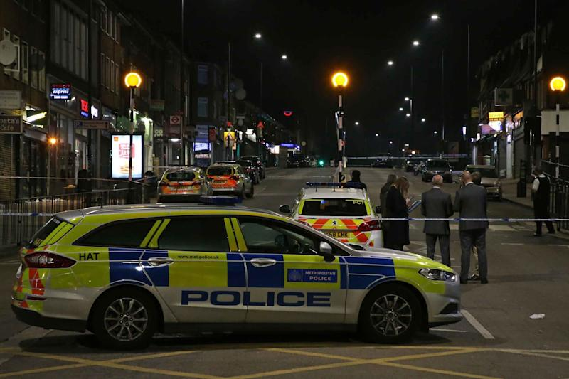 A 28-year-old man was also fighting for his life after being stabbed in outside a Tesco in Wembley (NIGEL HOWARD ©)