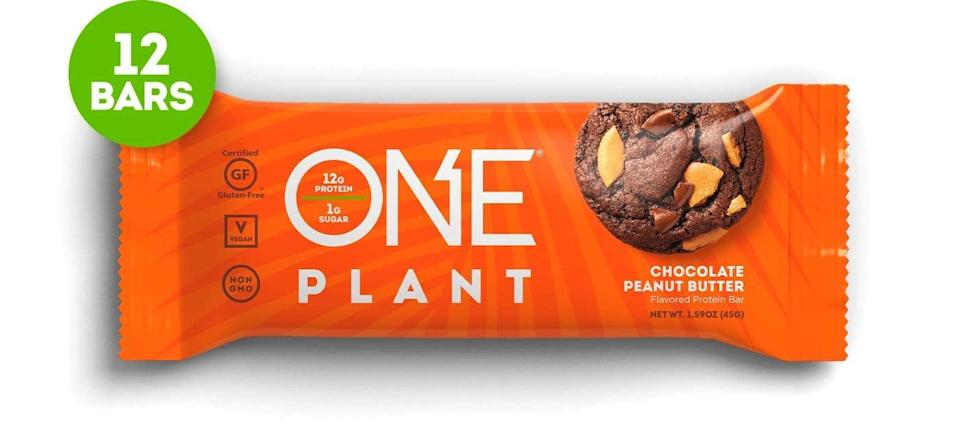 <p>Plant protein has a reputation for being chalky, but that's not the case with these <span>One Plant Protein Bars, Chocolate Peanut Butter</span> ($28 for 12). They taste like a candy bar, and I reach for one as a quick breakfast.</p>
