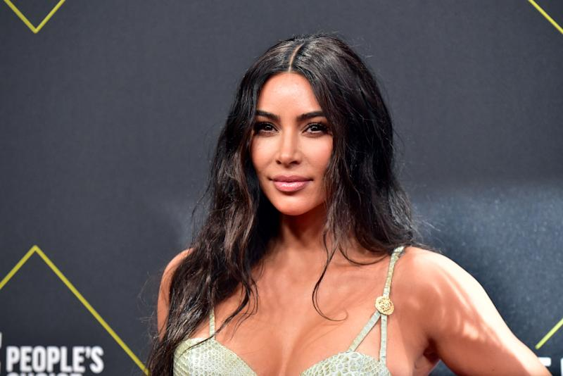 SANTA MONICA, CALIFORNIA - NOVEMBER 10: Kim Kardashian attends the 2019 E! People's Choice Awards at Barker Hangar on November 10, 2019 in Santa Monica, California. (Photo by Rodin Eckenroth/WireImage)