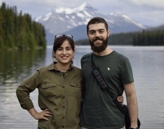 The couple were returning home to Canada following their wedding in Iran. Source: Arash Sabbaghian via the National Post
