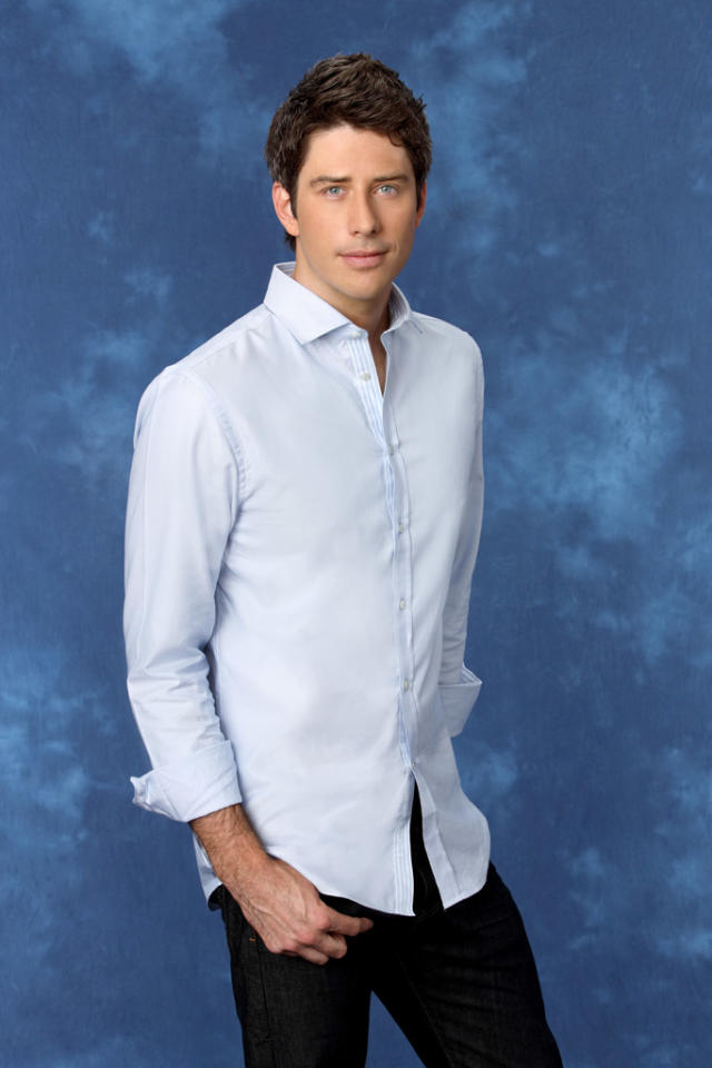 "Arie, 30, a race car driver from Scottsdale, AZ is featured on the eighth edition of ""<a href=""http://tv.yahoo.com/bachelorette/show/34988"">The Bachelorette</a>."""