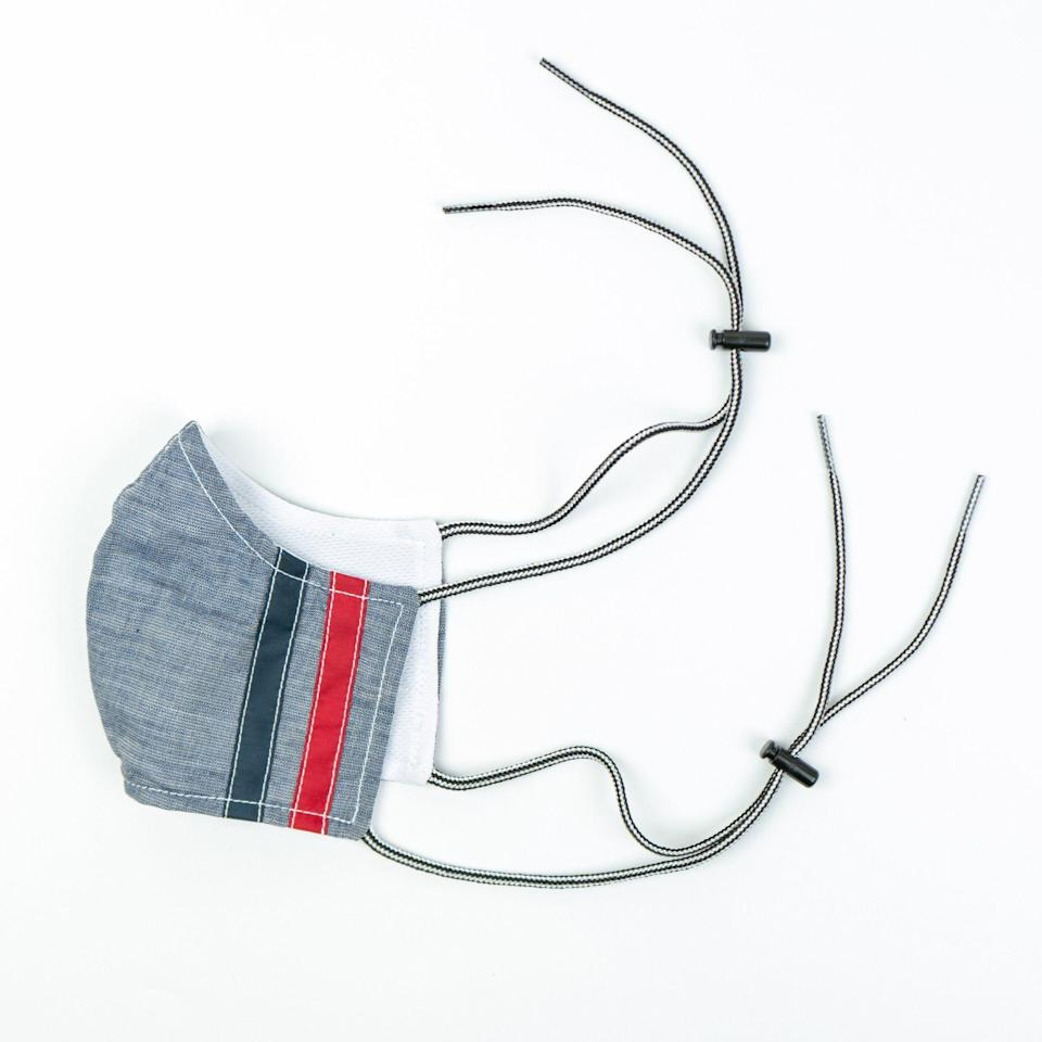 """<p>birdwell.com</p><p><strong>$29.95</strong></p><p><a href=""""https://www.birdwell.com/products/birdie-reversible-mask-buy-one-give-one-chambray-navy-red"""" rel=""""nofollow noopener"""" target=""""_blank"""" data-ylk=""""slk:BUY IT HERE"""" class=""""link rapid-noclick-resp"""">BUY IT HERE</a></p><p>One of our favorite brands for cool board shorts is doing their part for the pandemic by producing stylish face masks. For each mask purchased, Birdwell will donate one to <a href=""""https://www.coreresponse.org/about-us"""" rel=""""nofollow noopener"""" target=""""_blank"""" data-ylk=""""slk:CORE"""" class=""""link rapid-noclick-resp"""">CORE</a>, a non-profit founded by Sean Penn that's helping to provide free COVID-19 testing to high-risk individuals in the Los Angeles area. </p>"""