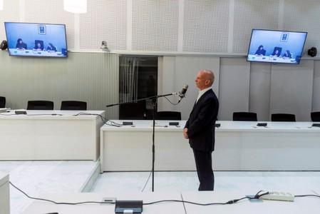 Former Venezuelan intelligence chief Carvajal stands during his extradition hearing to U.S. in Madrid