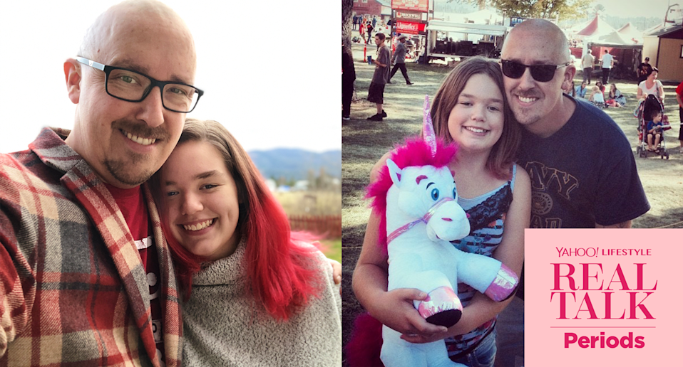 Josh Misner and his daughter, now and then, can talk about anything together. (Photo: Courtesy of Josh Misner)