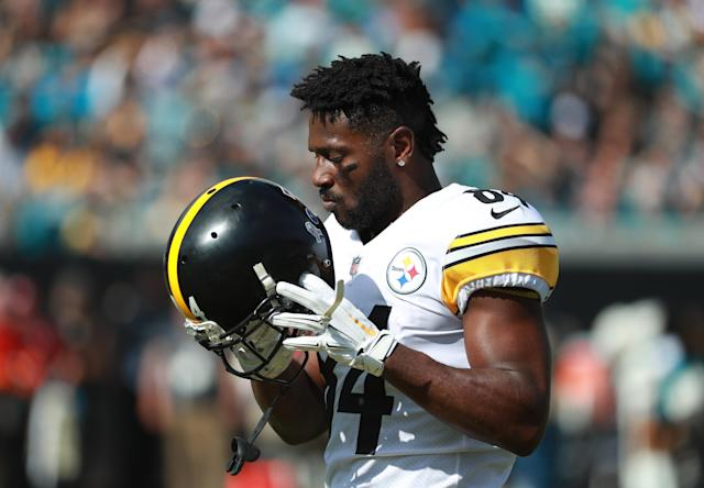 After former teammate Ryan Clark was critical of his behavior, Steelers receiver Antonio Brown responded with name-calling. (Getty Images)