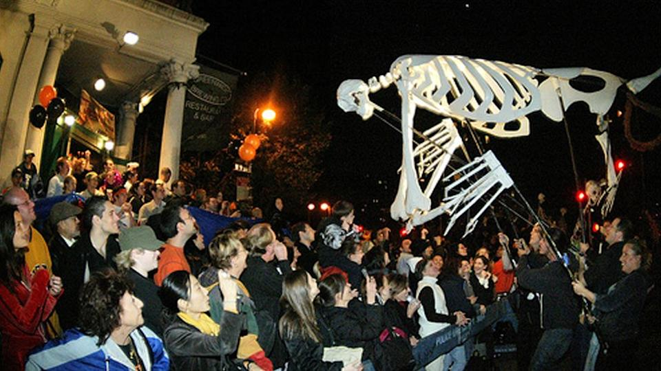A previous NYC Halloween parade