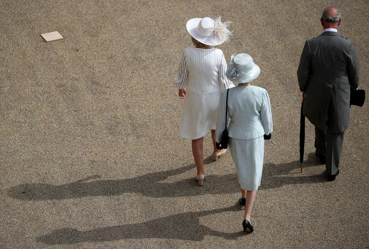 <p>Camilla, Princess Anne, and Prince Charles arrive at the garden party. Thus far, a reason has not been given as to why the Queen chose to skip today's event.</p>