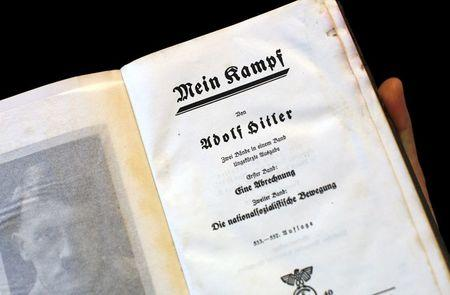 "A copy of Adolf Hitler's book ""Mein Kampf"" (My Struggle) from 1940 is pictured in Berlin, Germany, in this picture taken December 16, 2015. REUTERS/Fabrizio Bensch"