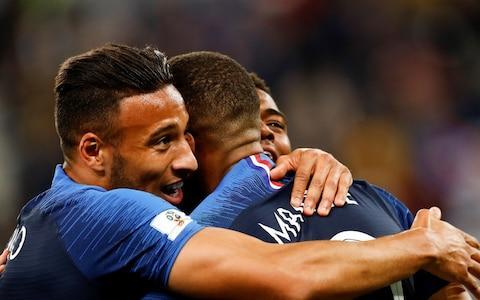 <span>Players of France celebrate after winning against Belgium in the World Cup 2018 final</span> <span>Credit: Getty Images </span>