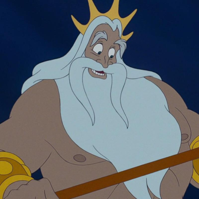 King Triton in The Little Mermaid (Credit: Disney)