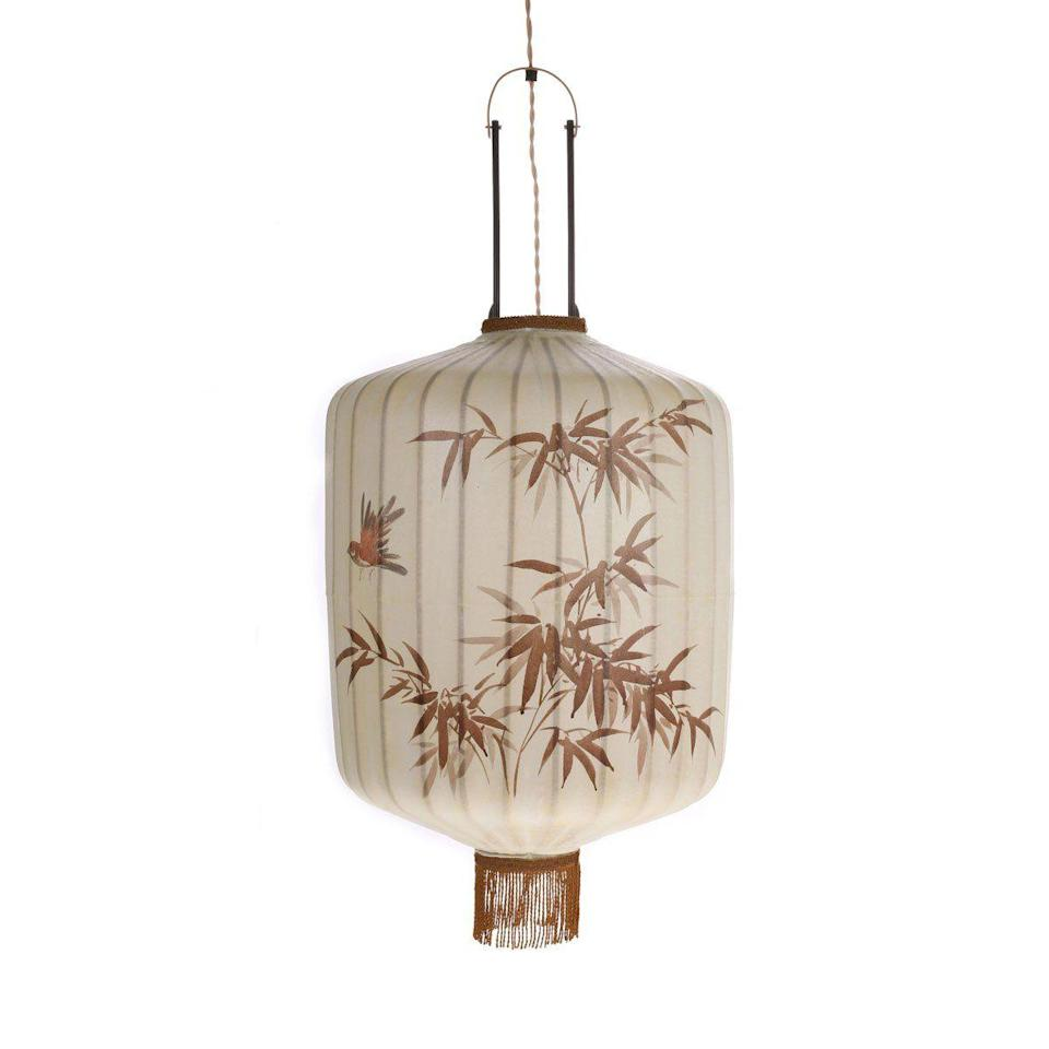 """<p>The Yuanxiao Festival (or the 'lantern festival') marks the end of the festivities and symbolises reunions – something we are all eagerly awaiting. Until we can be reunited, hang a lantern of your own – such as this hand-painted Taiwanese piece from HK Living.</p><p>£485, HK Living.</p><p><a class=""""link rapid-noclick-resp"""" href=""""https://www.folkinteriors.co.uk/products/traditional-lantern-l-cream?gclid=CjwKCAiAi_D_BRApEiwASslbJxIWpzjhGZQIAE4igxsxZqlANGG-wiPJGp0yyTGTMsaVS3WhsvyVjBoCFy4QAvD_BwE&variant=31456191217721"""" rel=""""nofollow noopener"""" target=""""_blank"""" data-ylk=""""slk:SHOP NOW"""">SHOP NOW</a></p>"""