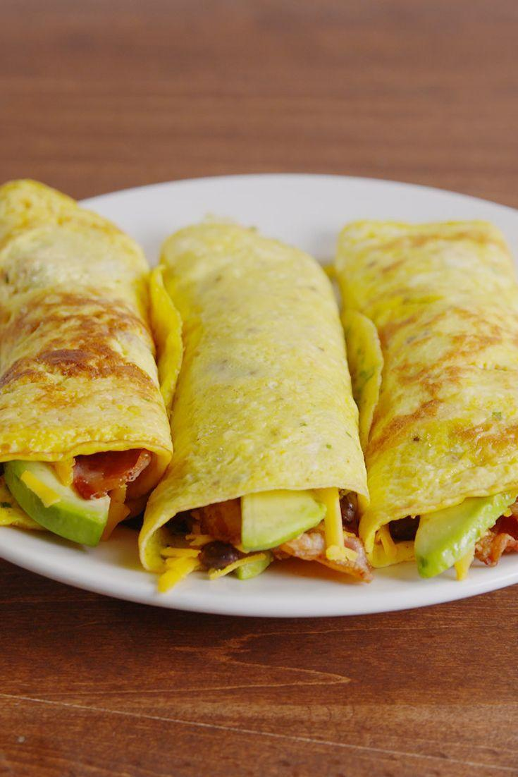"""<p>Who needs that pesky tortilla anyway?!</p><p>Get the recipe from <a href=""""/cooking/recipe-ideas/recipes/a51807/low-carb-breakfast-burritos-recipe/"""" data-ylk=""""slk:Delish"""" class=""""link rapid-noclick-resp"""">Delish</a>.</p><p><strong><a class=""""link rapid-noclick-resp"""" href=""""https://www.amazon.com/Creuset-Enameled-Cast-Iron-9-Inch-Skillet/dp/B00005QFSP/?tag=syn-yahoo-20&ascsubtag=%5Bartid%7C1782.g.1920%5Bsrc%7Cyahoo-us"""" rel=""""nofollow noopener"""" target=""""_blank"""" data-ylk=""""slk:BUY NOW"""">BUY NOW</a> <em>Le Creuset Cast-Iron 9"""" Skillet, $140, </em></strong><em><strong>amazon.com</strong></em><br></p>"""