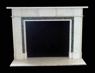 English Regency marble fireplace from the legendary Waldorf Astoria Hotel in New York City.