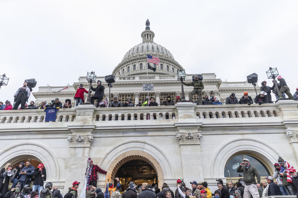 Pro-Trump supporters riot at the Capitol