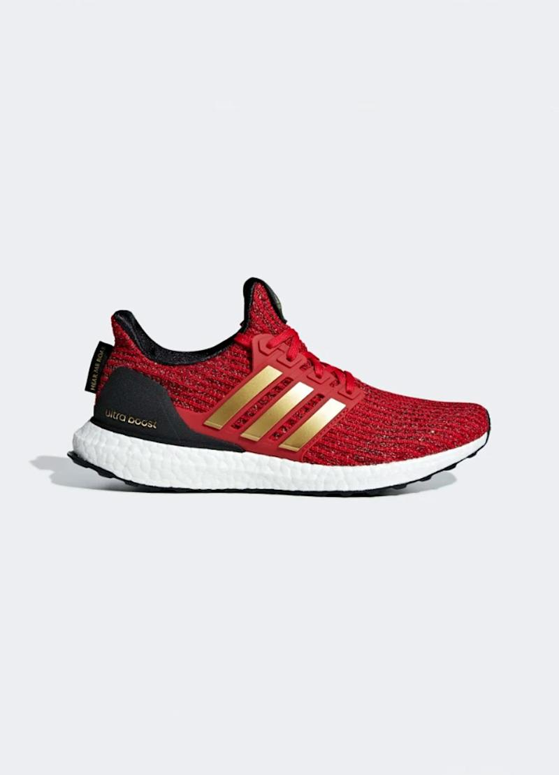 Buy now: Adidas x Game of Thrones House Lannister Ultraboost Shoes, $180, Adidas