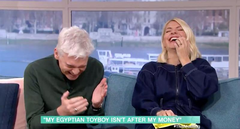 Phillip and Holly's faces said it all (Photo: ITV)