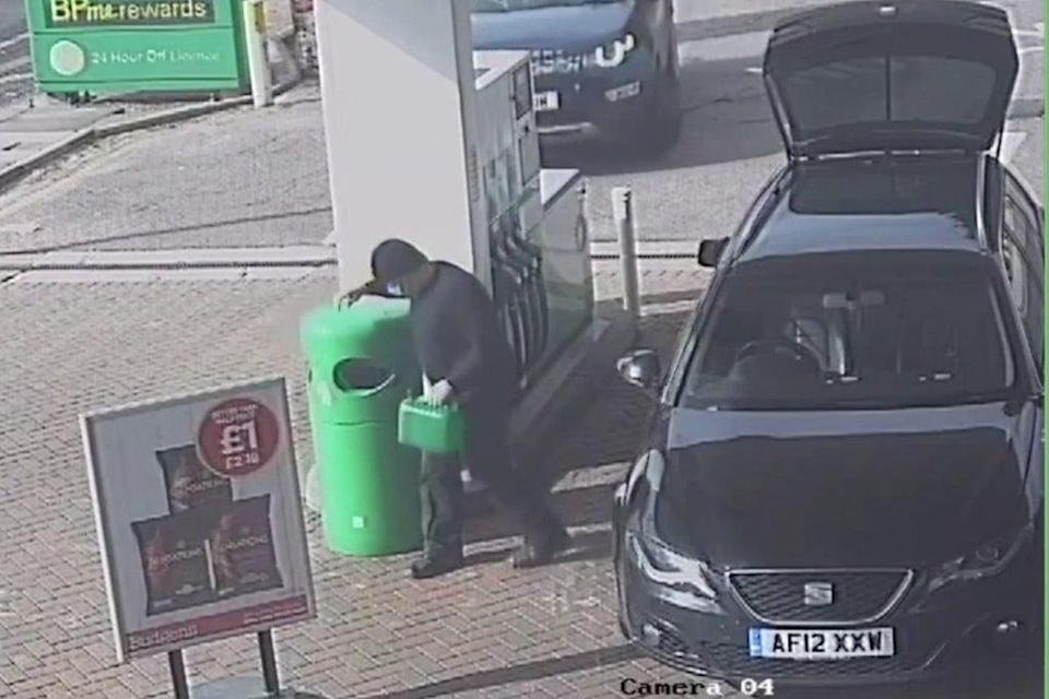 Couzens was caught on CCTV buying petrol (PA)