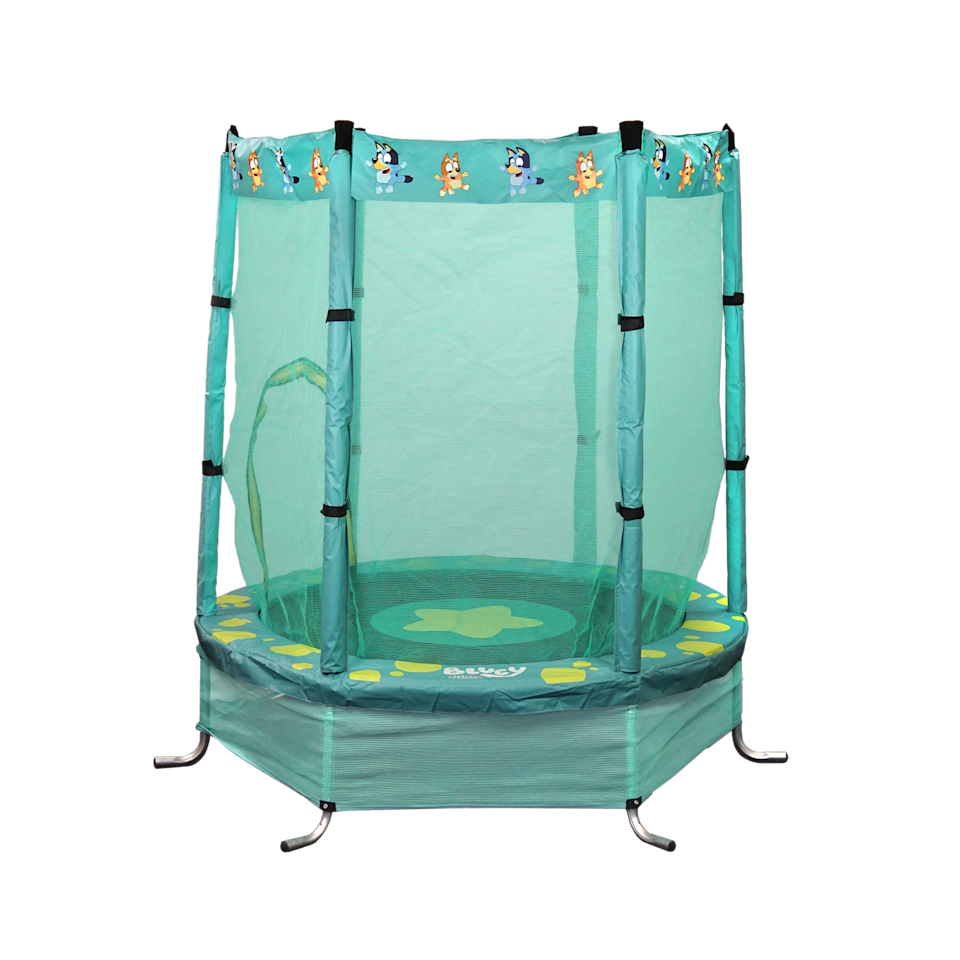 Product shot of Big W's Bluey trampoline for children