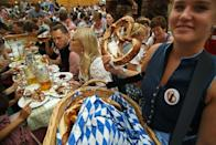 "<p>Apparently North Dakota is a place where Oktoberfest celebrations go to die. In this state, <a href=""https://criminaldefensetucson.com/north-dakota-pretzels-beer-yes-things-somehow-connected/"" rel=""nofollow noopener"" target=""_blank"" data-ylk=""slk:beer and pretzels"" class=""link rapid-noclick-resp"">beer and pretzels </a>cannot legally be served at the same time in any bar or restaurant.</p>"