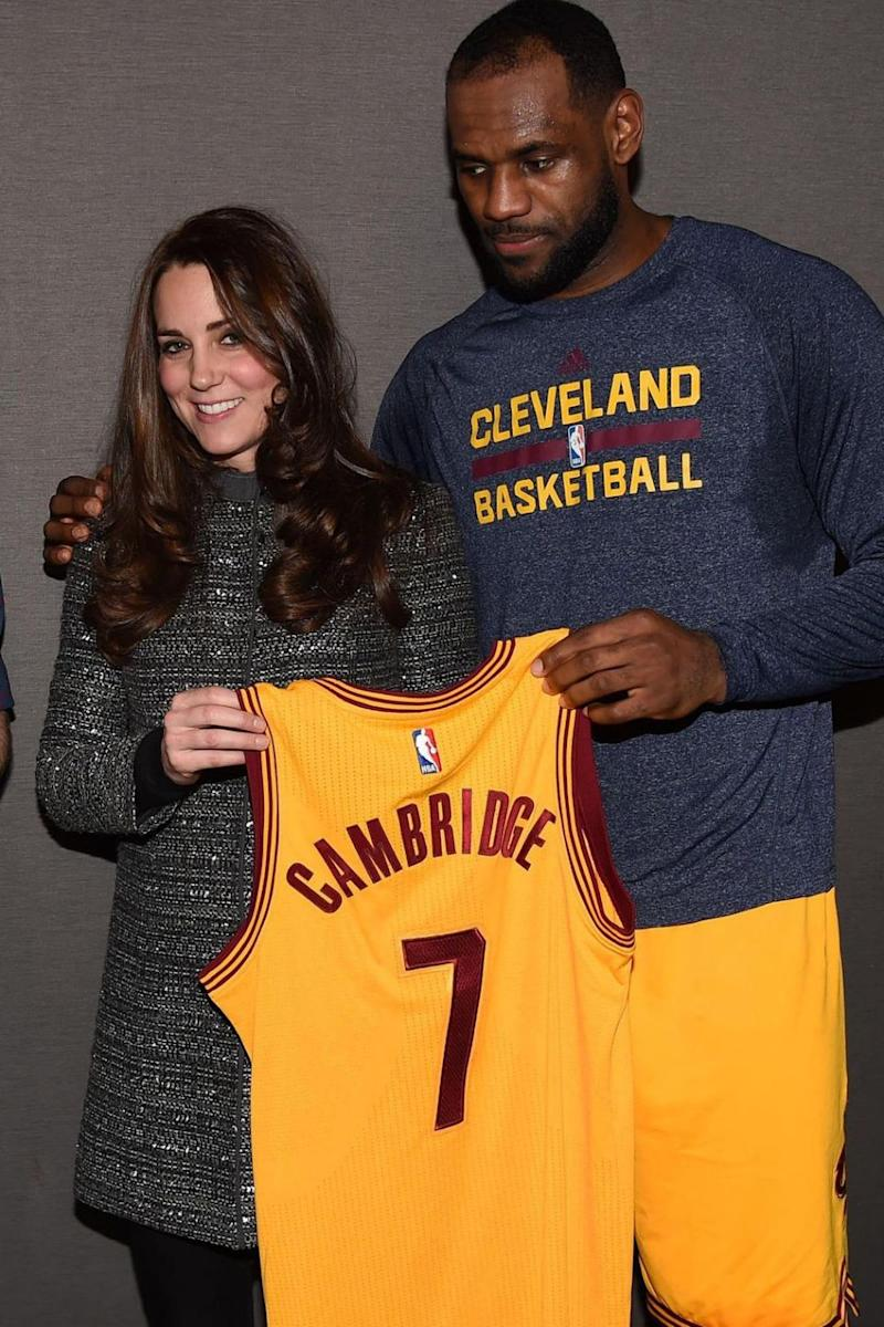 LeBron James standing with his arm around Kate Middleton was very awkward. Photo: Getty