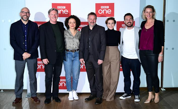 The cast and crew of the show attending a photocall for series five of BBC's Line of Duty, held at the BFI Southbank in London.