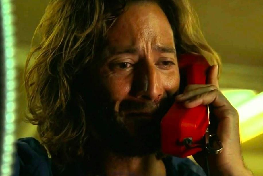 Desmond cries while on the phone